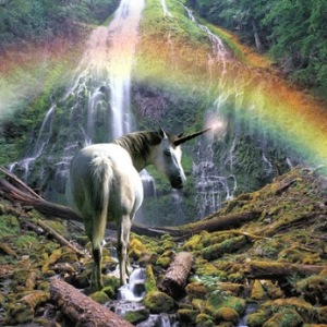 buddy-mays-unicorn-walking-towards-waterfall