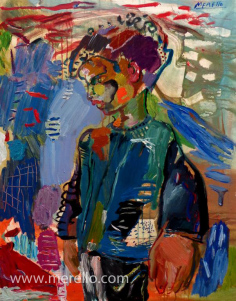 merello.-nino azul.Comprar arte online.Comprar cuadros de artistas contemporaneos actuales. Invertir en arte pintura espanola contemporanea.