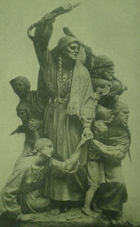 Monumento antes de ser emplazado 1926